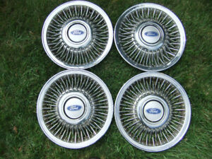 4 CLASSIC SPOKED FORD CROWN VIC. 15 IN. WHEEL COVERS