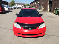 2004 Honda Civic Coupe - Certified Mileage - A1 Car-WINTER TIRES