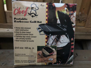 Portable barbeque grill kit