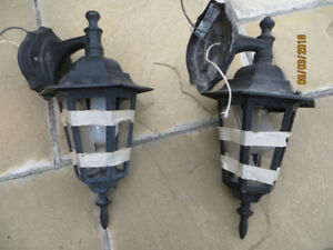lights outdoor metal coach lamps