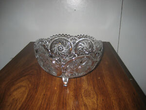 Large Pinwheel Crystal Fruit bowl