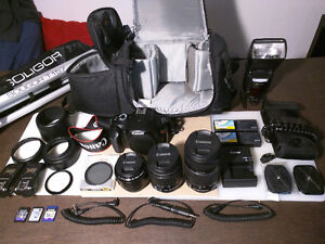 Canon Rebel T3 DSLR with accessories and additionals lens.MINT