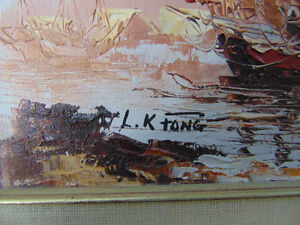 2 Beautiful paintings 1 Water colour and 1 oil painting London Ontario image 7