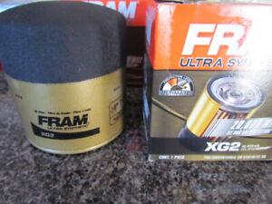 Fram PH8A, XG2, Purolator, and Sears oil filters