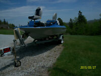 Bass Fishing Boat - Restored with Trailer and 55hp Johnson Motor