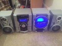 Sharp Hi-Fi Stereo System with Flashing Subwoofer