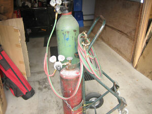 Oxy/ acetylene-Torches,Cart,and large tanks