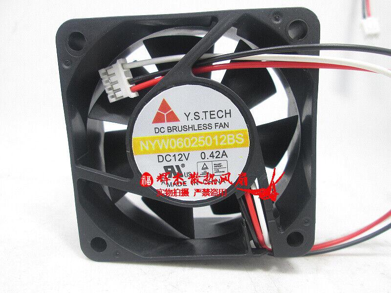 Y.S.TECH 6025 NYW06025012BS DC12V 0.42A 6CM cooling fan
