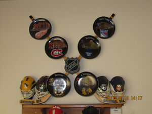 ORIGINAL SIX COLLECTIBLES and TROPHYS