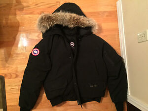 Black Authentic Canada Goose Chilliwack Bomber Jacket Size Large