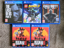 PS4 Last Of Us Lego Batman Black Ops Red Dead Playstation 4