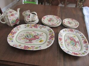 Strathmore Pink / Multicolour dishes, Pattern #C4811