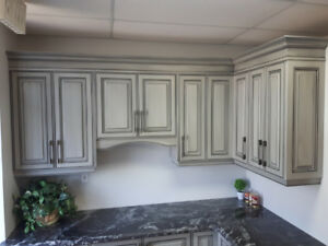 Painted Rustic Grey Glaze kitchen