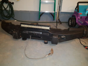 Jeep JK Winch, Bumper, Light Bar