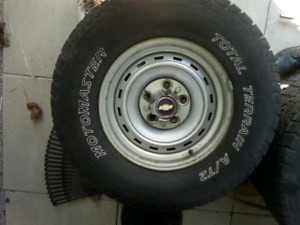 5  Chevy rally rims and tires