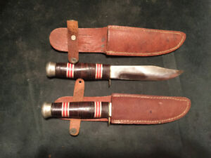 2 outdoor survival hunting knives