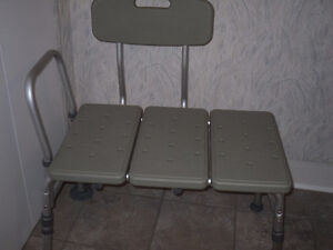 bath transfer bench and raised toilet seat
