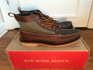 (NEW) Red Wing Wabasha Leather & Canvas Boot - Size 11. $219