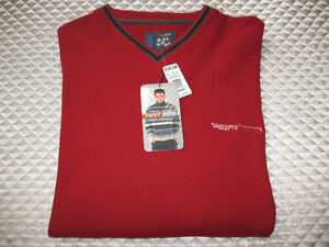 New with Tags Mens Point Zero Long Sleeve Sweater XL Cherry Red