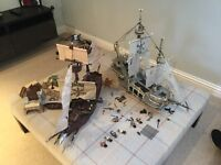 Mega Blocks Pirate ships with accessories.