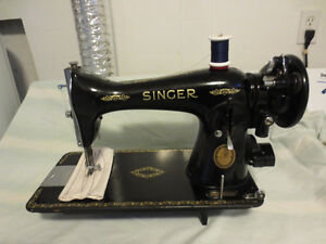 SINGER HEAVY DUTY GEAR DRIVEN SEWING MACHINE MODEL 15-91
