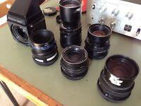 Mamiya RB67 camera and lenses