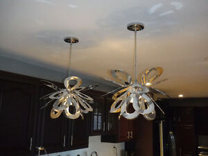 2 Modern Pendant Lights for sale