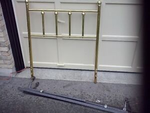 "Brass head board for 39"" bed & box spring arms to attach. London Ontario image 1"