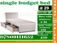 Single Divan Budget Bed Frame with Mattress Range