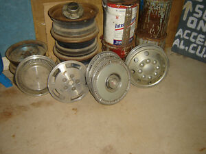 WHEELS, COVERS, TIRE 13, 14 ,15 Inch. Vintage? Old trailer?