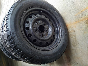 Snowmark Radial HT M+S 195/60R14 Winter tires with steel rims London Ontario image 1