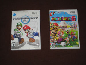 Nintendo Wii Games: Mario Kart 20$ & Mario Party 8 $40 or 2/$50