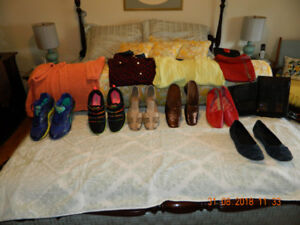 LADIES SHOES -SNEAKERS-PURSES-  CLOTHING ARTICLES