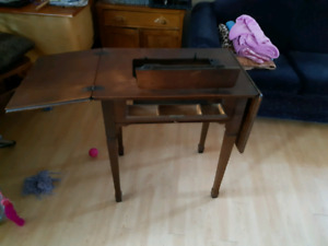 Old singer sewing table