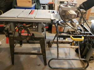 """10"""" Craftsman table saw and Genesis mitre saw"""