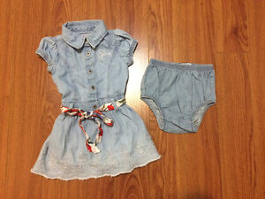 Guess denim dress with diaper cover