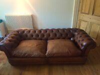 John Lewis Chatsworth large leather sofa