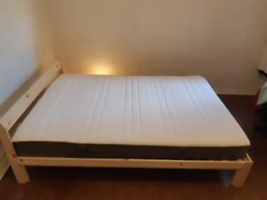 Double Bed Frame and Mattress for Sale- $225
