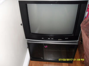 Color TV with stand