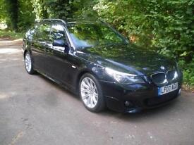 BMW 5 SERIES 520D M SPORT TOURING, Black, Auto, Diesel, 2007