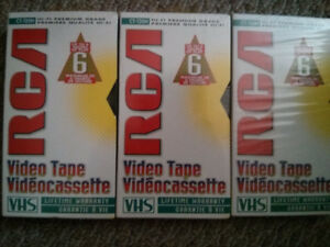 Brand New & Sealed Blank VHS Tapes