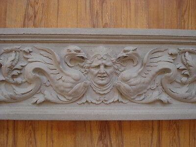 Fassaden - Stuck  Gründerzeit - Motivplatte aus Beton  61,5 x 22 cm