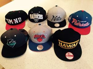 7 casquettes snap back