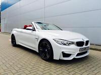 2014 64 Reg BMW M4 3.0 DCT CONVERTIBLE + WHITE + RED LEATHER + HEAD UP DISPLAY +
