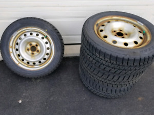 Winter tires - Blizzak 205/55R16 on Toyota Matrix rims (5×100)