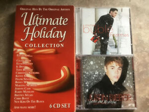 Christmas CDs - Michael Bublé, Justin Bieber, and various artist