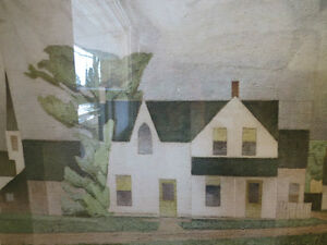 A LTD EDITION PRINT BY A. J. CASSON GROUP OF SEVEN VILLAGE HOUSE Kitchener / Waterloo Kitchener Area image 3