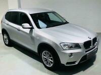 BMW X3 XDRIVE20D SE 5 DOOR AUTO 181 BHP DIESEL SILVER 2011 XDRIVE 4X4 4WD 20D