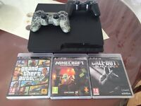 PLAYSTATİON 3 with 3 GAMES AND 2 CONTROL £90