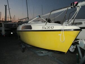 Sailboat, motor, and trailer for sale